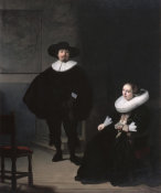 Rembrandt - A Lady and Gentleman in Black, 1633 (stolen)