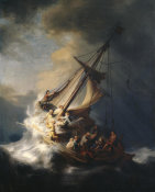 Rembrandt - Christ in the Storm on the Sea of Galilee, 1633 (stolen) height=