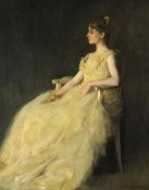 Thomas Wilmer Dewing - Lady in Yellow, 1888