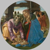 Sandro Botticelli - The Nativity, about 1482-1485