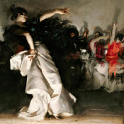 John Singer Sargent - El Jaleo, 1882 (detail: half section, right)