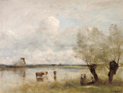 Camille Corot - Noonday, 1850-1875