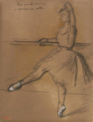Edgar Degas - A Ballerina (Danseuse a la barre), about 1880 height=