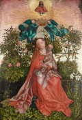 Martin Schongauer - The Virgin and Child of the Rose Bower, mid 16th century