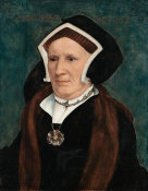 Hans Holbein the Younger - Lady Margaret (Bacon) Butts, about 1541-1543