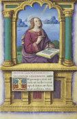 Jean Bourdichon - Book of Hours: St. John the Evangelist on Patmos, 1490-1515