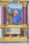 Jean Bourdichon - Book of Hours: The Flight into Egypt, 1490-1515