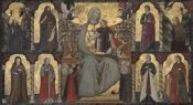 Giuliano da Rimini - The Virgin and Child Enthroned with Saints, 1307