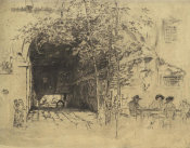 James McNeill Whistler - First Venice Set: The Traghetto, No. 2, 1880