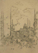 James McNeill Whistler - First Venice Set: The Piazzetta, 1879-1880