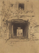 James McNeill Whistler - Second Venice Set: Doorway and Vine, 1880
