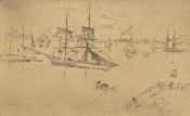 James McNeill Whistler - Second Venice Set: Lagoon: Noon, 1879-1880