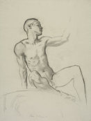 John Singer Sargent - Study for the Rotunda of the Museum of Fine Arts, Boston: Male Nude for a Cartouche, 1917-1921