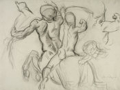 John Singer Sargent - Study for Chiron and Achilles, 1917-1922