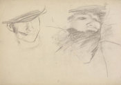 John Singer Sargent - Study for El Jaleo: Seated Musicians' Heads, 1881