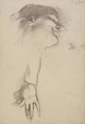 John Singer Sargent - Study for El Jaleo: Dancer's Head and Hand, 1881