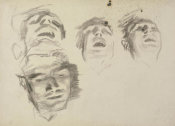 John Singer Sargent - Study for El Jaleo: Seated Musicians' Faces, 1881
