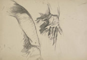 John Singer Sargent - Study for El Jaleo: Dancer's Hand and Arm, 1881