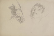 John Singer Sargent - Study for El Jaleo: Dancer's Hand and Seated Woman's Head, 1881