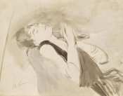 Paul César Helleu - Woman Reclining, about 1890