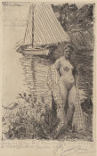 Anders Zorn - My Model and My Boat, 1894