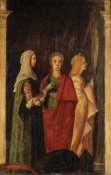 Unknown Italian artist - Three Women, 15th century