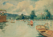 Ralph Wormeley Curtis - Henley: The Regatta, 1890