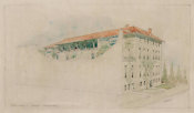 Willard Thomas Sears - Design for the Exterior of Fenway Court, Northeast View, 1900