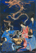 Ruth von Scholley - Japanese Women around a Kettle, 1919