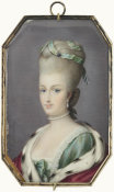 Jean-Baptiste Isabey - Miniature of Marie Antoinette, about 1786
