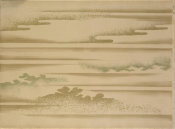 Japanese - Landscape with Clouds, 19th century