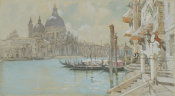 Francis Hopkinson Smith - The Grand Canal with Santa Maria della Salute, 1892-1894