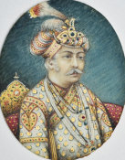 Indian, Agra - Miniature of Akbar, 19th century