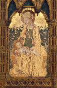Style of Gentile da Fabriano - Virgin and Child before a Rose Hedge, 15th century