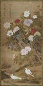 Ma I - Hanging Scroll: Peonies, late 18th century - early 19th century