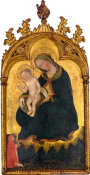 Style of Gentile da Fabriano - The Virgin of Humility, with a Donor, about 1425-1475