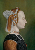 After Piero della Francesca - Battista Sforza, Countess of Urbino, late 18th century
