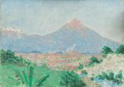 Denman W. Ross - A View of Popocatépetl from Cuantla, March 1923
