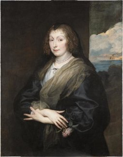 Anthony van Dyck - Woman with a Rose, about 1635-1639