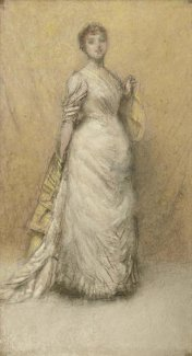 James McNeill Whistler - The Little Note in Yellow and Gold, 1886