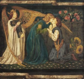 Dante Gabriel Rossetti - Love's Greeting, about 1861
