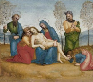 Raphael - Lamentation over the Dead Christ, about 1503-1505