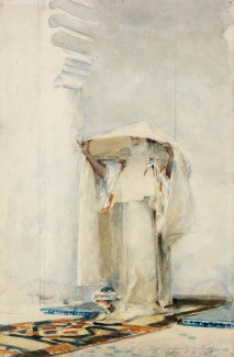John Singer Sargent - Incensing the Veil, about 1880