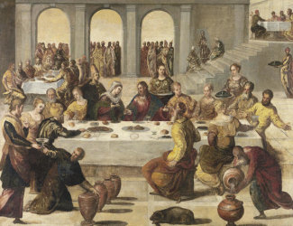 Jacopo Tintoretto - The Wedding Feast at Cana, about 1545