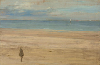James McNeill Whistler - Harmony in Blue and Silver: Trouville, 1865