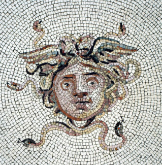 Unknown Roman artist - Mosaic Floor: Medusa (detail), 117-138 AD