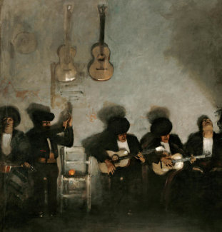 John Singer Sargent - El Jaleo, 1882 (detail: half section, left)