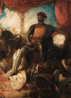 Eugène Delacroix - The Crusader, about 1840