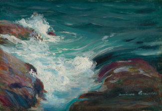 Andreas M. Andersen - Surge of the Sea, about 1900
