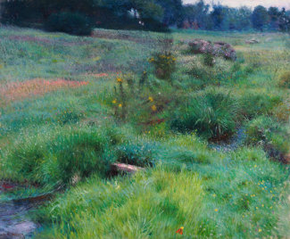 Dennis Miller Bunker - The Brook at Medfield, 1889